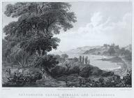 Ostermouth castle, Mumbles, and lighthouse,...