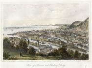 View of Swansea and railway bridge