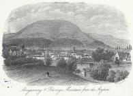 Abergavenny & Blorenge mountain from the...