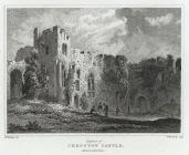 Interior of Chepstow Castle, Monmouthshire