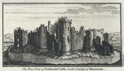 The west view of Grismond castle, in the county...