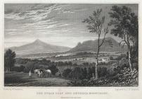 The Sugar Loaf and Skyrrid mountains,...