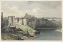 Chepstow Castle, from the bridge