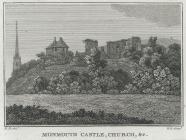 Monmouth Castle, Church, &c