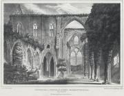 Interior of Tintern Abbey, Monmouthshire. East...