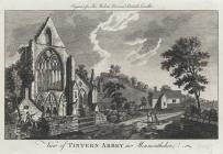 View of Tintern Abbey in Monmouthshire