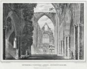 Interior of Tintern Abbey, Monmouthshire. West...