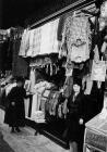 Woollen goods stall at Aberdare market, mid 1920s