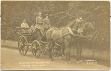 William Hughes in horse-drawn coach