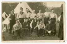 Robert Evans with fellow-recruits to the RAMC