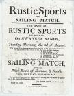 Rustic sports and sailing match, 1819