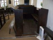 Maesyronnen chapel: family or school pew in...