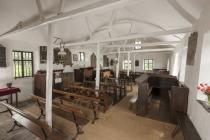Maesyronnen chapel: interior looking east, 2012