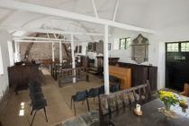 Maesyronnen chapel: interior looking west, 2012