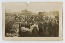 Photograph of refugees in Palestine during WW1...