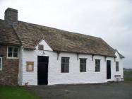 Maesyronnen chapel: south west front entrance,...