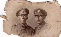 Photograph of two World War One soldiers