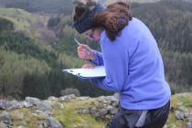 Field work at Castell Carndorchan