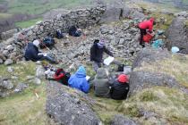 Field work at Castell Carndochan