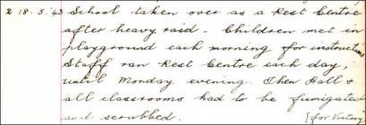 Cofnod llyfr log o Ysgol Parc Ninian, Caerdydd,...
