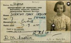 Immigration Medical Card from WW2, 12 September...