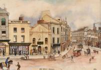 Newport High Street, 1876 - Compton, Charles...