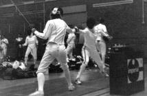 Epee Bout at the Welsh Open Fencing Competition...