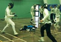 Foil Bout during the 2003 Aberystwyth Fencing...