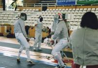 Sabre in action - fencers from Aberystwyth Town...