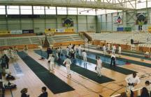 Friendly fencing competition in St Brieuc, 2003...