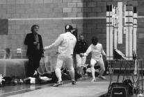 Aberystwyth fencer in the knockout stages of...