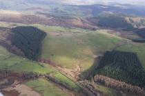MONKS TROD, SECTION FROM ABBEY CWM HIR WEST TO...