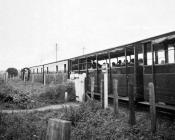 VoR Train  Approaching Aberystwyth, 9 Sep 1964