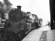 4-6-0 75002 at Lampeter Station, 13 Nov 1963