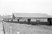 VoR coaching stock, Aberystwyth May 1964