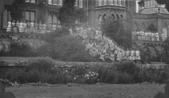 Photograph of Pupils in front of Hafodunos Hall...