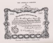 American Gorsedd membership certificate