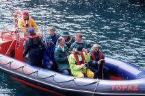 'Skokholmites' aboard 'inflatable' for visit to...