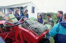 Goods-laden Dumper with Visitors - Skokholm Island