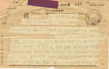 wartime telegram