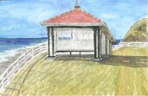 Bathrock Shelter, Aberystwyth - watercolour by...