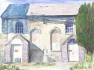 Jezreel Baptist chapel, Goginan - pen and wash...