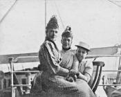 Sisters Marie Feodrovna and Alexandra with...