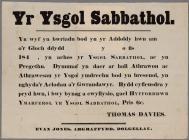 Sunday school notice c.1840