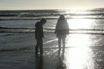 Ogmore by Sea in winter sunshine.