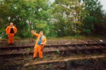 Pontyclun Railway workmen, September 1992