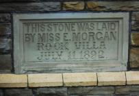 Plaque on Rock Villa, Pontyclun