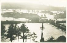 Flooding at Carmarthen, 1930s