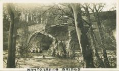Nantgaredig bridge flood damage, 1933