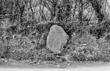 MILESTONE, SOUTH-WEST OF LLANGYBI VILLAGE